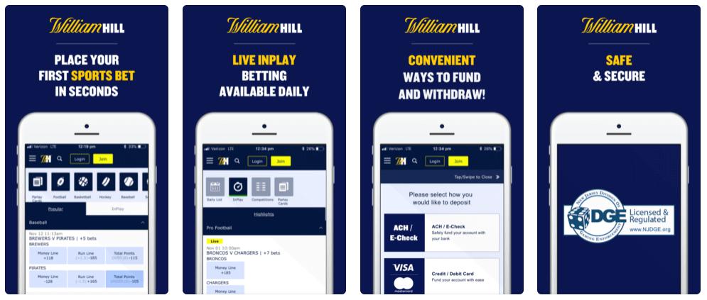 Les avantages de William Hill mobile