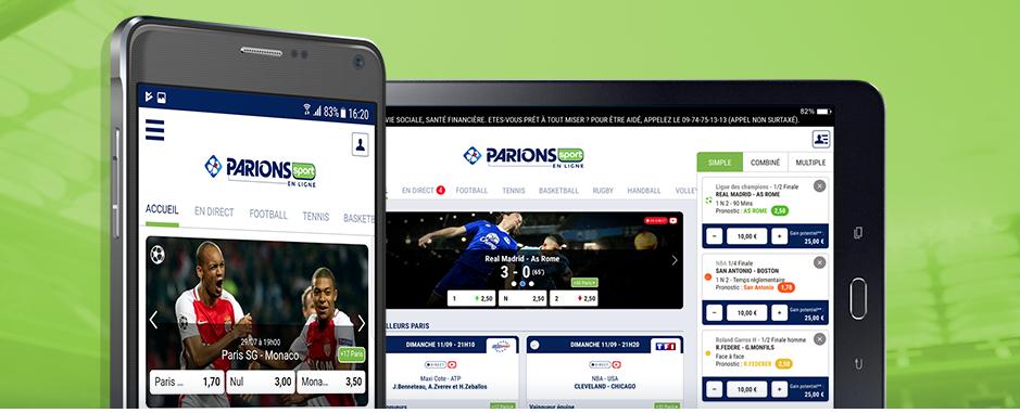 Applications de paris sportifs Android