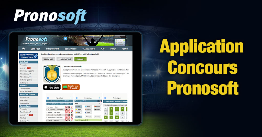 telecharger Pronosoft application